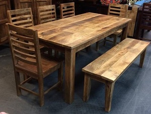 MORNINGSTAR - Dining Table-6' Rough Cut Finish-71w by 35d by 30h