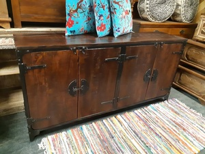 Morningatar - Sideboard-with funky hardware- 71w by 16d by 36h