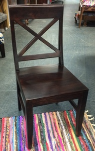 MORNINGSTAR - Dining Chair-X Back Style-Solid Rosewood