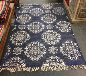 MORNINGSTAR - Rug-Floral Pattern-Blue Colour-4ft by 78in Size