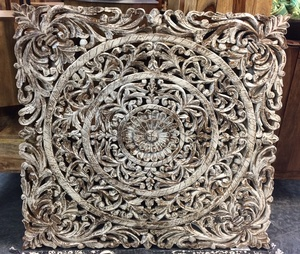 MORNINGSTAR - Mandala-Carved-Rustic White-40 by 40 by 1d