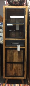 MORNINGSTAR - Tall Cabinet with Glass-22w by 18d by 72h