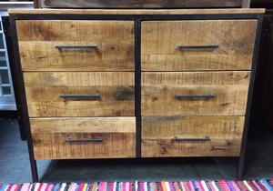 MORNINGSTAR - Dresser/Sideboard-6 Large Drawers-47w x 18d by 3ft h