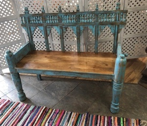 MORNINGSTAR - Bench-Tonga Style- 4ftw by  22d by 41h-Ref #641 Blue
