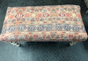 MORNINGSTAR - Bench-Fabric-Aztec Southwest Pattern-34w by 15d by 17h-Ref#421