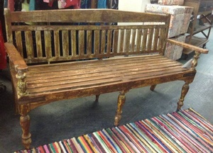 MORNINGSTAR - Bench-Rustic Painted-62w x 21d x 36h