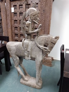 MORNINGSTAR - Horse Statue-From Bamako-Mali-Africa-5' h x 34in tall x 9 in deep