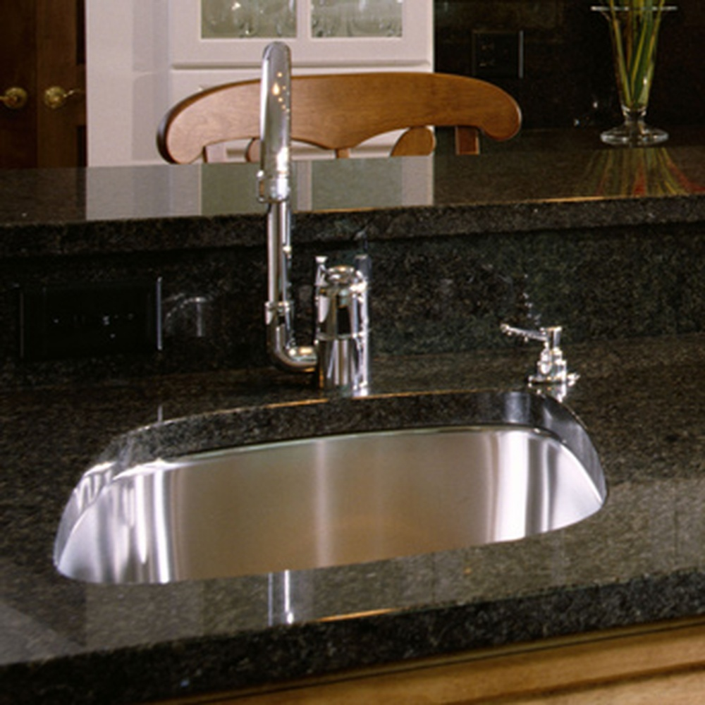 Granite Kitchen Sink: INSTALL UNDERMOUNT SINK IN